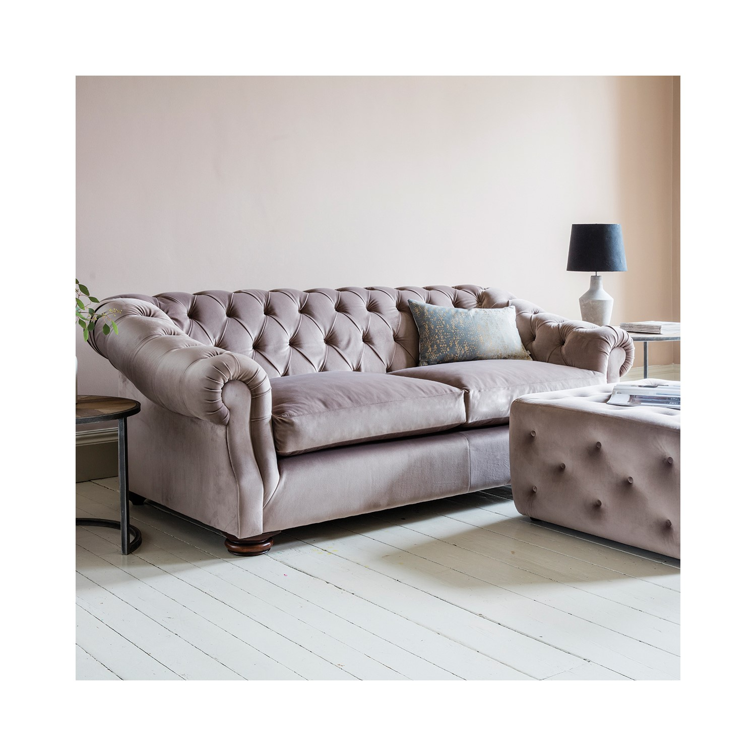Genial Gallery Hampton Chesterfield Sofa In Upholstery Fabric   Brussels Taupe