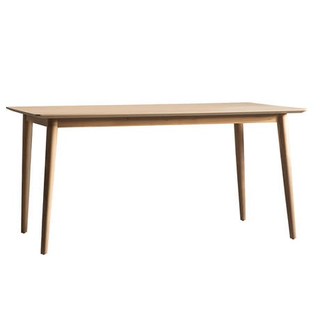 Gallery Milano Solid Oak Light Wood Chevron Style Dining Table Furniture123