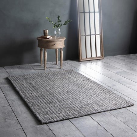 Textured Wool Rug Grey and silver - Gallery Arizona