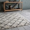 Hand Crafted White & Grey Rug - 230 x 170 cm