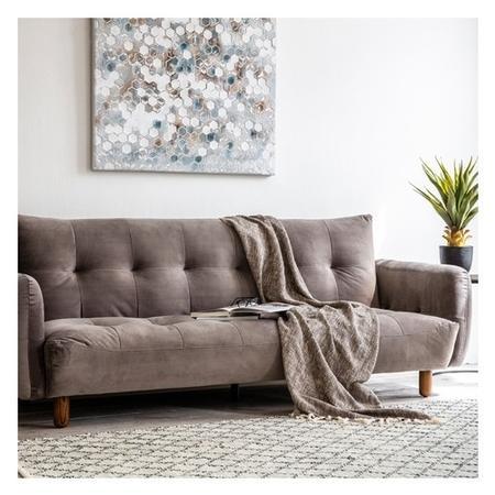 Gallery Titanium Grey Velvet Sofa Bed Seats 4 Sleeps 2 Gothenburg
