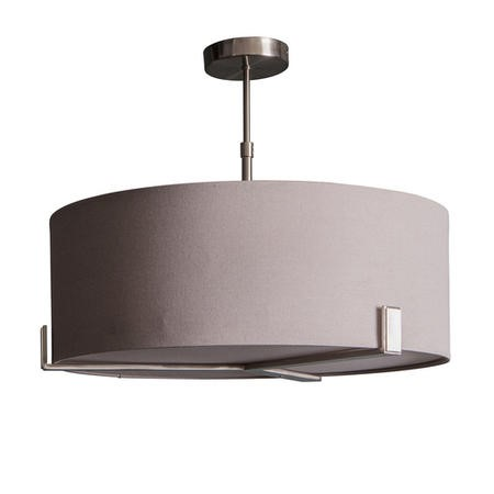 Grey Ceiling Light with Fabric Shade - Evelyn