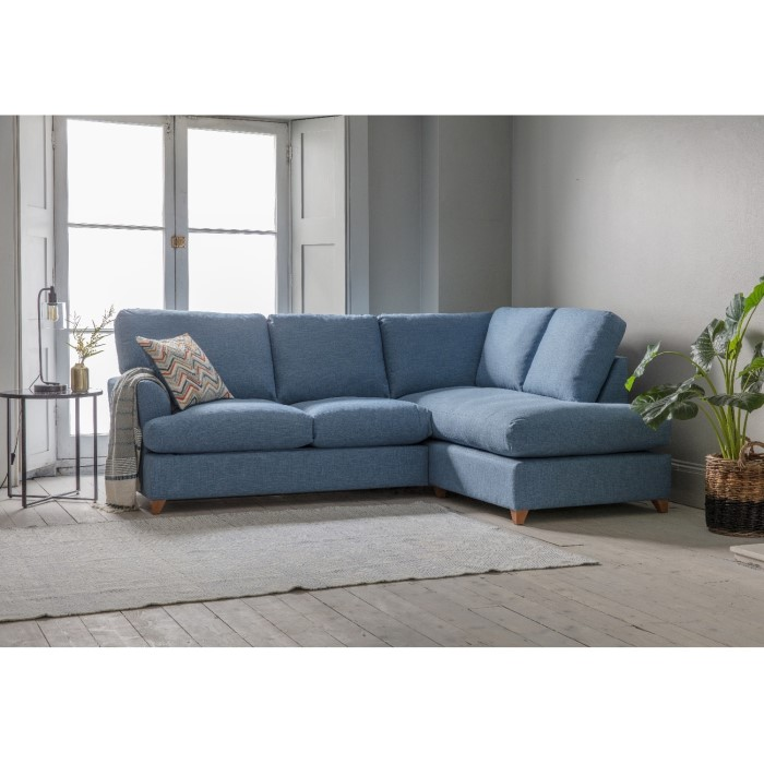 Gallery Charlford Ice Blue Corner Sofa Bed- Right Hand