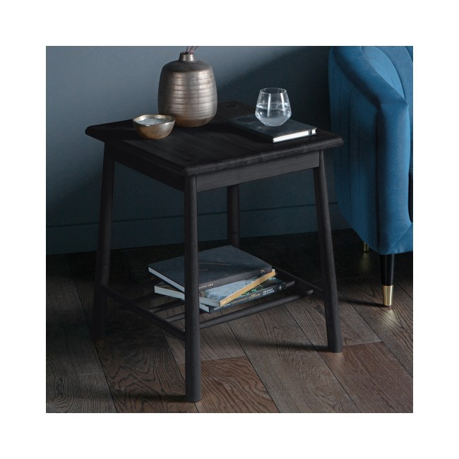Gallery Wycombe Black Bedside Table