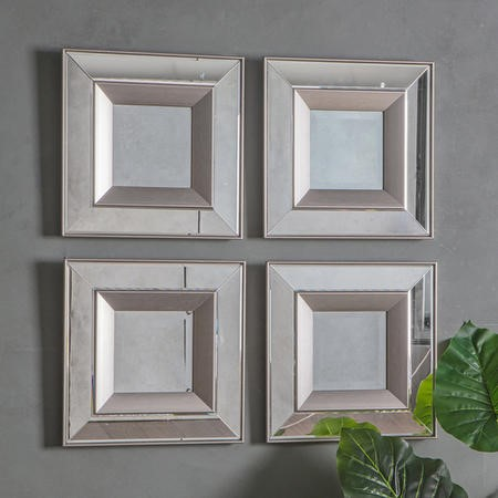 Gallery Madrid Square Mirror 4 pack
