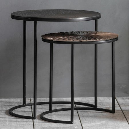 Gallery Limosa Metal Nest of Tables - Set of 2