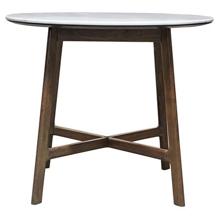 Gallery Barcelona Round White Marble Top Dining Table