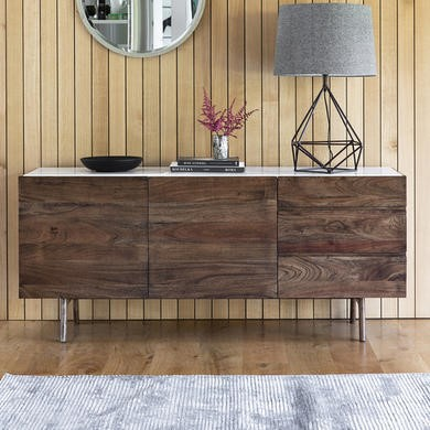 Gallery Barcelona White Marble Top Sideboard
