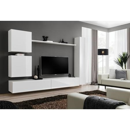 outlet store 9e356 39fa1 White High Gloss Floating TV Entertainment Unit - TV's up to 50