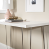 Foster White Office Desk with Chrome Legs - Foster
