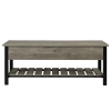 Foster Grey Storage Bench with Shoe Rack