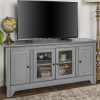 Large Grey Wooden TV Unit with Storage - Foster - TV's up to 55""