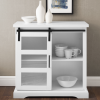 Foster White Wood Effect Sideboard with Cupboard & Open Shelves