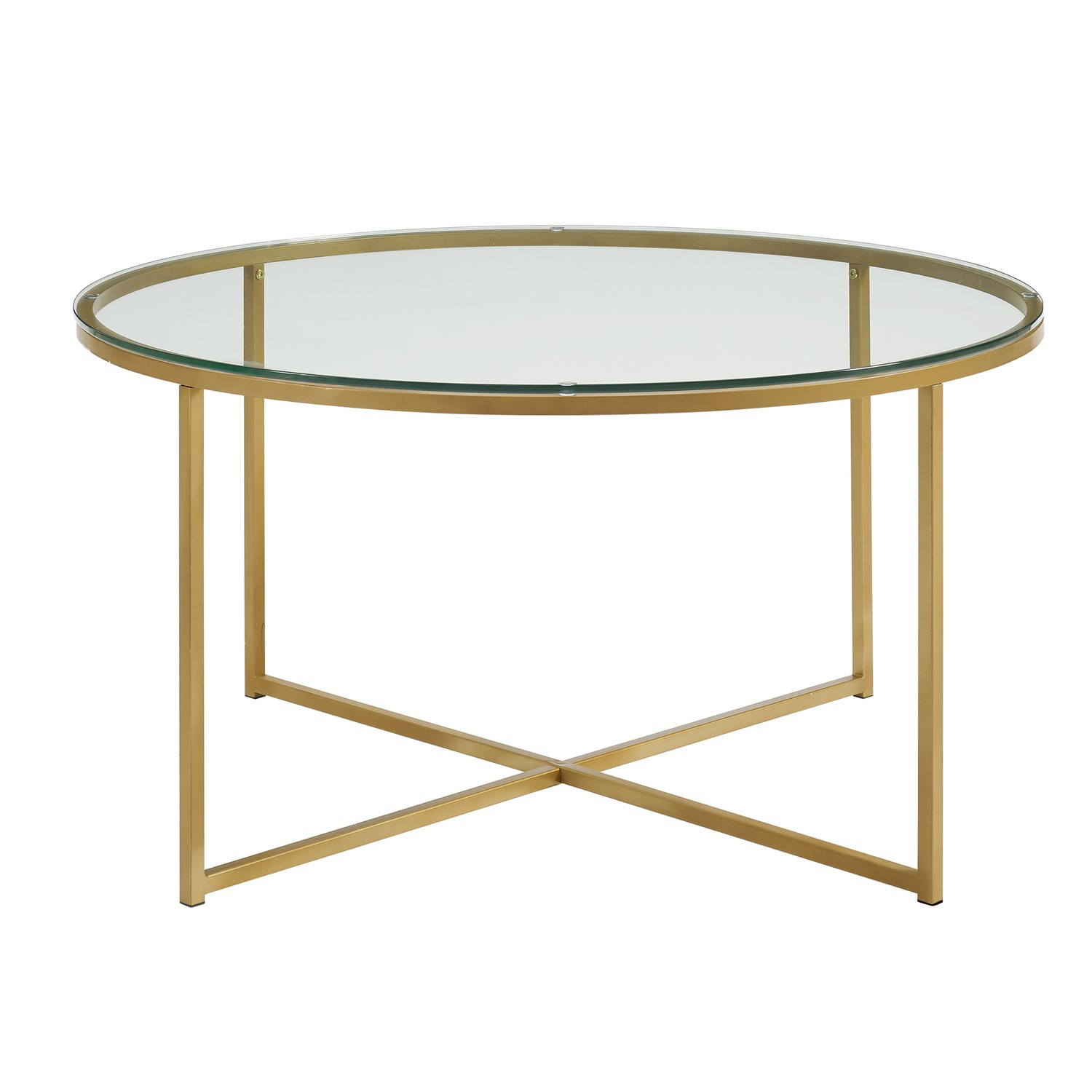 Picture of: Gold Coffee Table With Glass Top Foster Furniture123