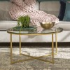 Foster Gold Coffee Table with Glass Top