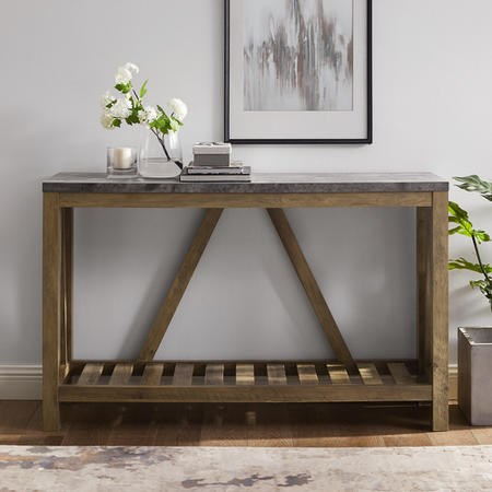 Foster Wooden Effect Console Table with Shelf