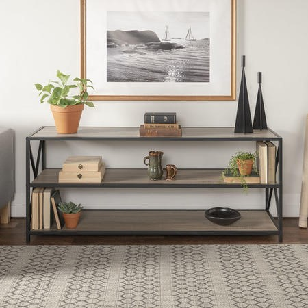 Foste Industrial Bookcase in oak effect