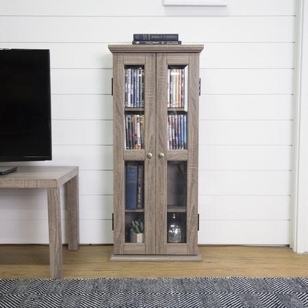 Foster Wood Effect Display Cabinet