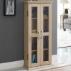 Foster Light Wood Effect Display Cabinet
