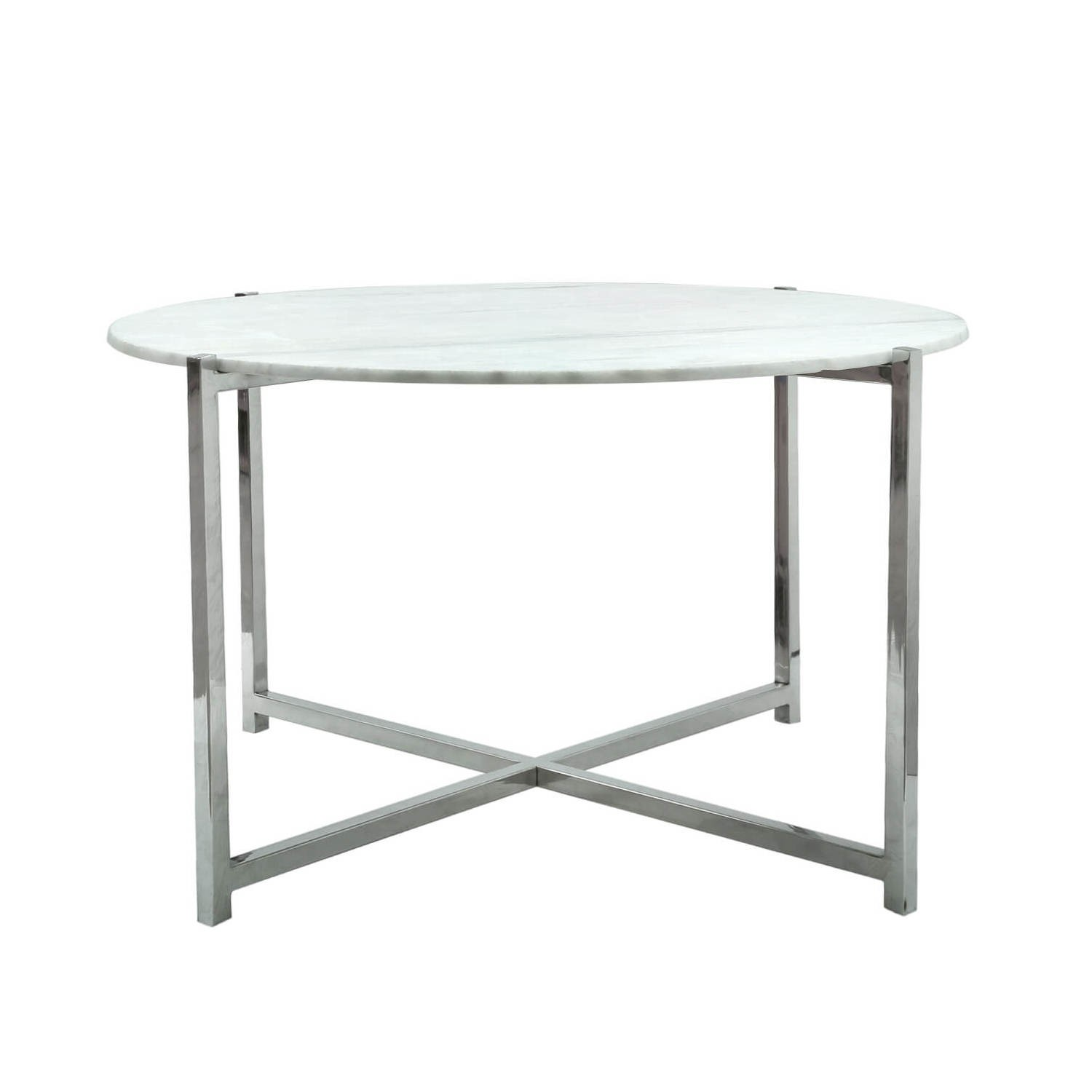 Round Coffee Table In White Marble Aurora Boutique Furniture123