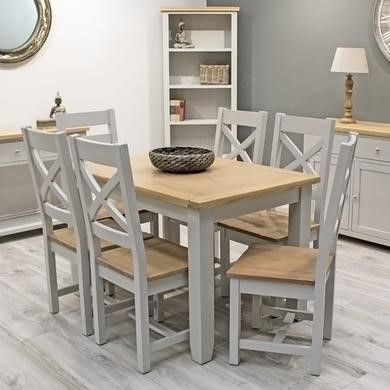 Vida Living Ferndale Small Extendable Dining Set with 6 Chairs