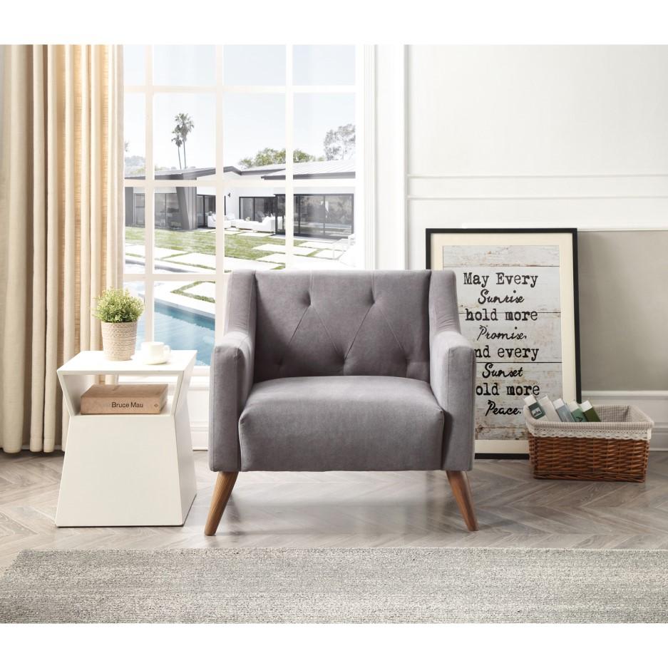 Needham Charcoal Grey Armchair | Furniture123