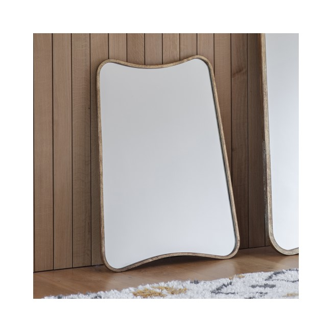 Caspian House Kurva Gold Rectangle Mirror