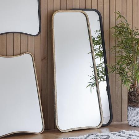 Kurva Black Leaner Mirror Caspian, Inca Contemporary Full Length Leaner Mirror Black