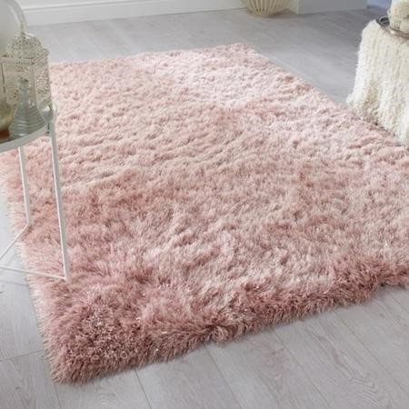 Dazzle Blush Pink Rug with Sparkles 120x170cm - Flair