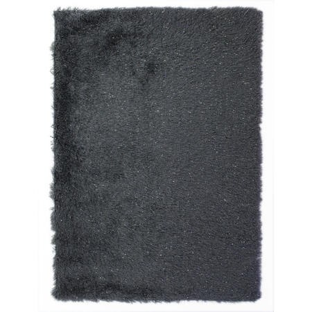 Dazzle Charcoal Rug with Sparkles 120x170cm - Flair