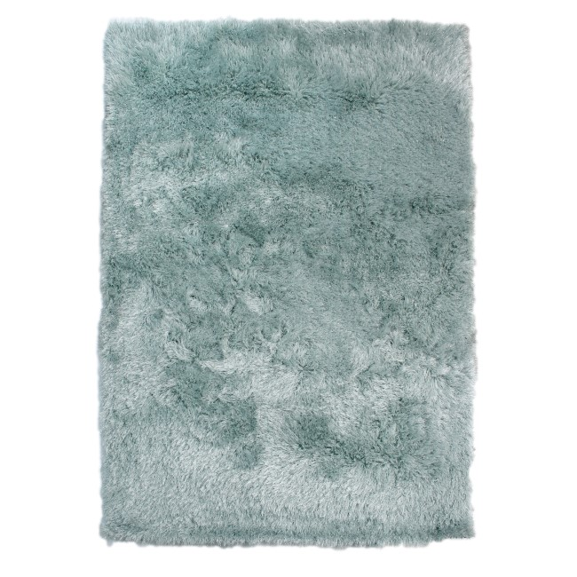 GRADE A1 - Dazzle Duck Egg Blue Rug with Sparkles 160 x 230cm - Flair