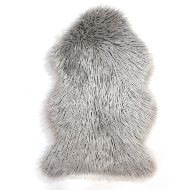 Grey Faux Sheepskin Rug 60x90cm - Flair