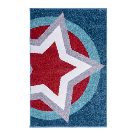 Hero Supershield Blue & Red Kids Rug 80x120cm - Flair