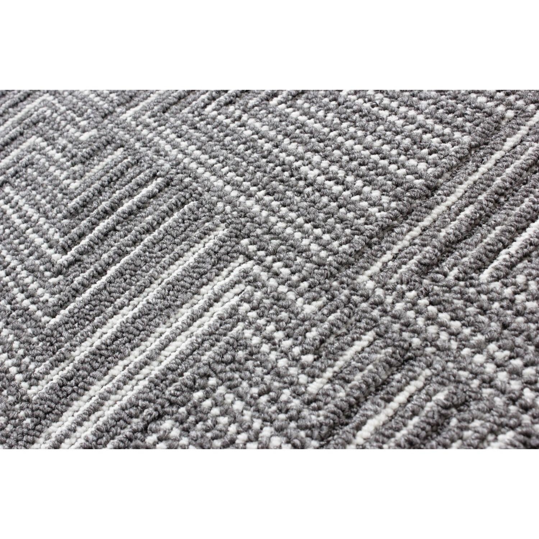Charcoal Grey Hallway Runner Rug 57x230cm Flair Pinnacle