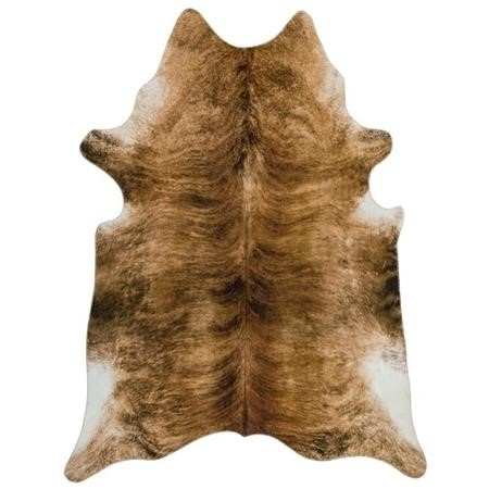 Brown Faux Cowhide Rug - 190x240cm