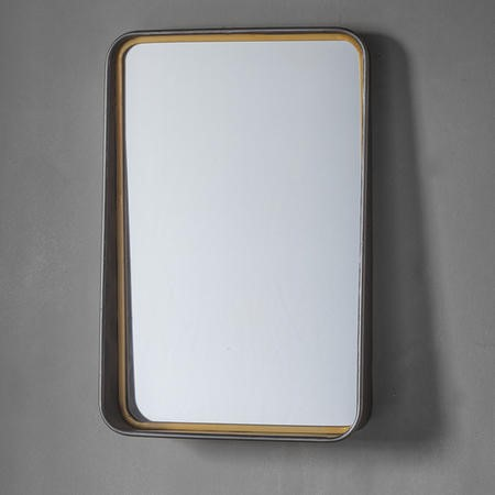 Earl Wall Mirror with Two Tone Finish - Caspian House