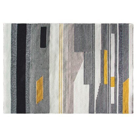 Gallery Ivverson Grey & Yellow Rug - 160 x 230 cm