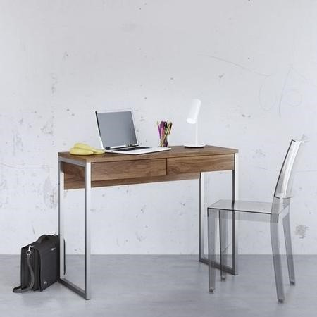 Office Desk in Dark Wood & 2 Drawers - Function