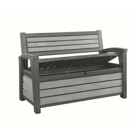 Hudson Duotech Wooden Outdoor Storage Bench in Grey