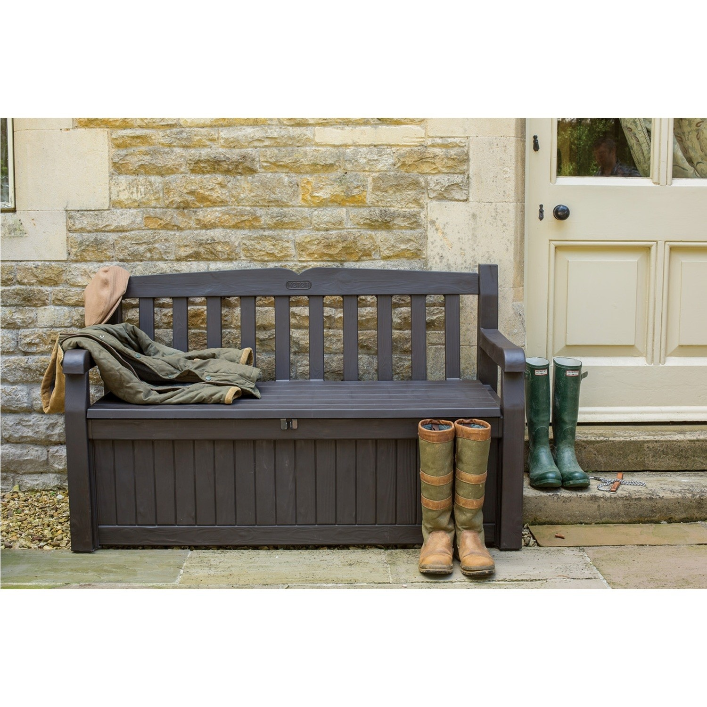 Iceni Outdoor Storage Bench in Dark Brown