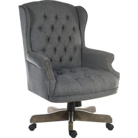 Teknik Office Chairman Grey Fabric Swivel Large Button Tufted Executive Chair