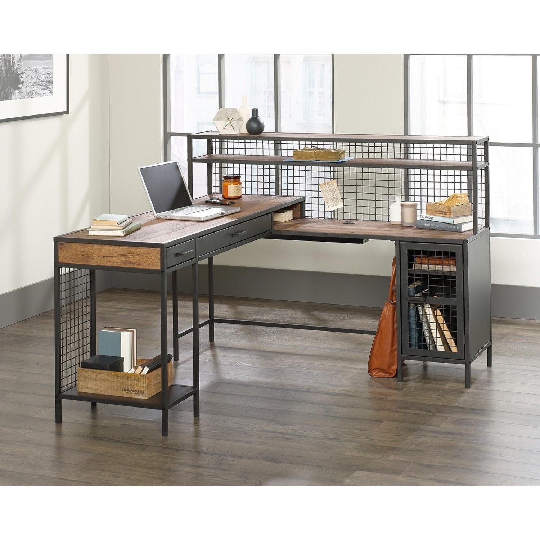 Teknik Office Boulevard L Shaped Desk With Black Finish Furniture123