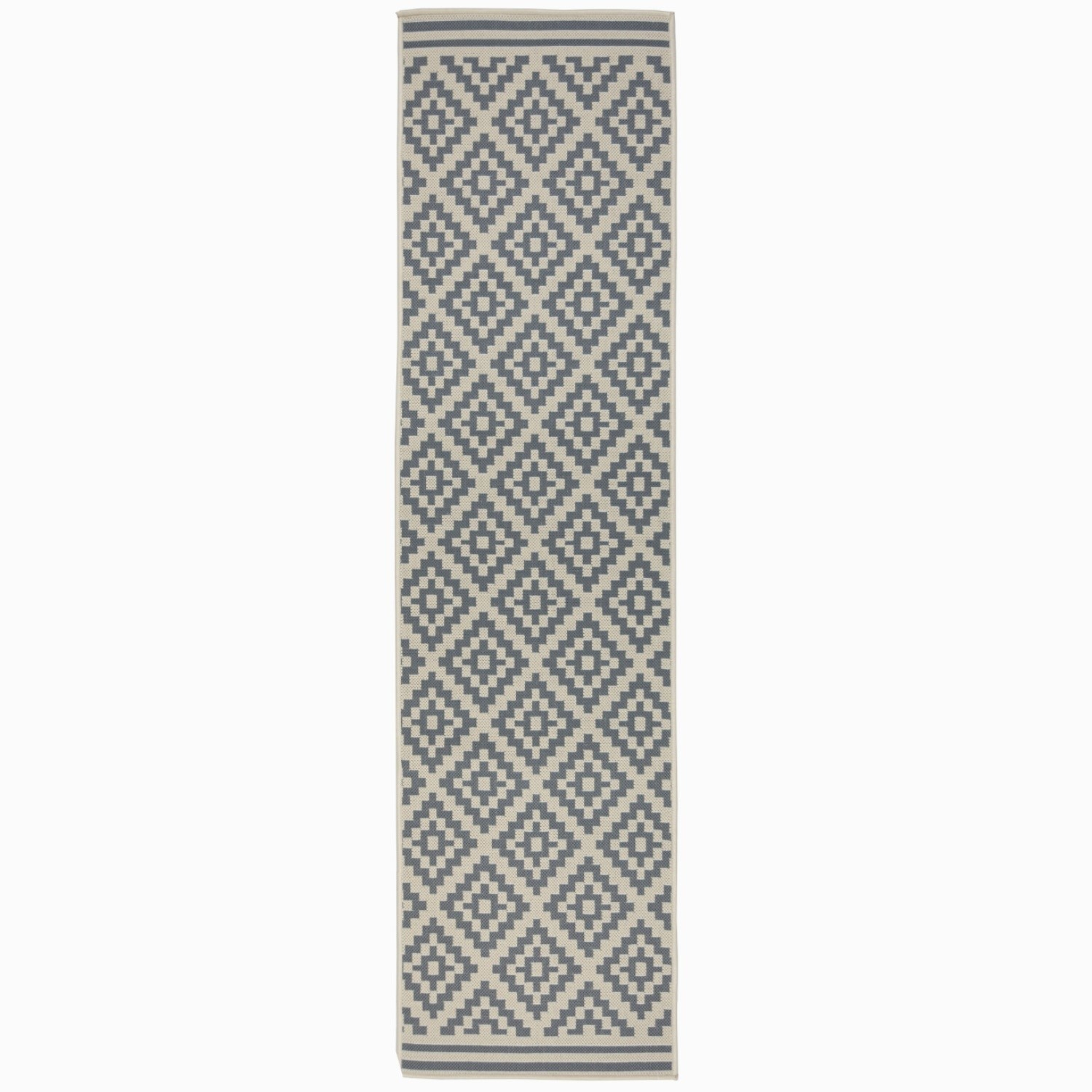 Moretti Beige and Anthracite Runner Rug - 60 x 230 cm - Flai