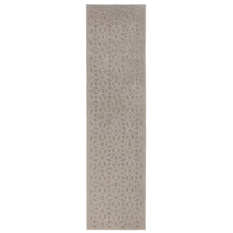 Piatto Argento Silver Runner Rug - 60 x 230 cm - Flair