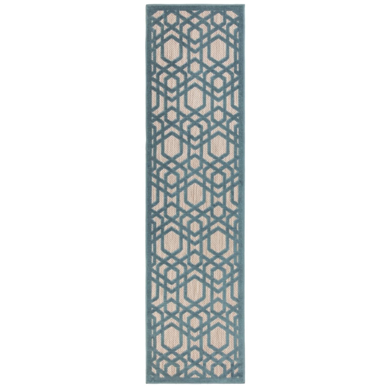 Piatto Oro Blue Indoor & Outdoor Runner Rug - 60 x 230 cm -