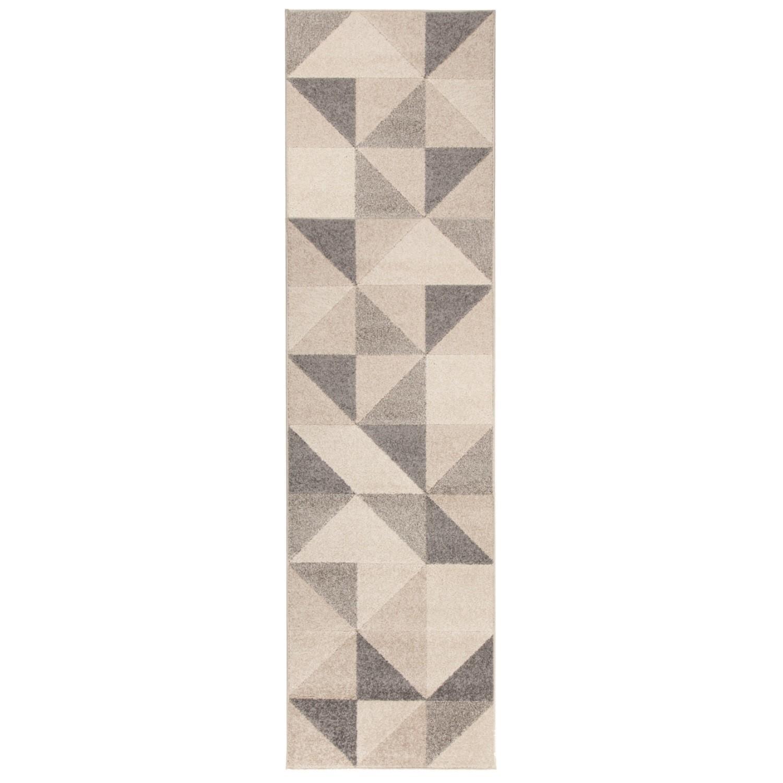 Urban Triangle Grey Runner Rug - 60 x 220 cm - Flair