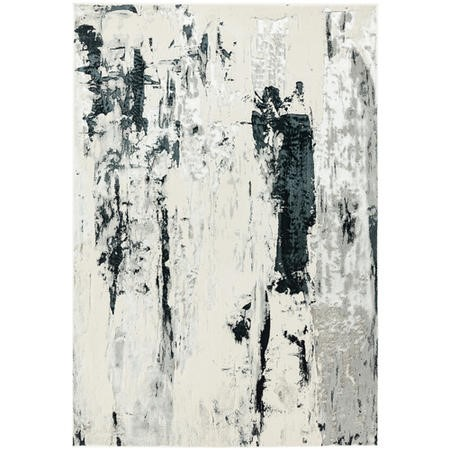 Aurora Silver and Black Rug 200x290cm
