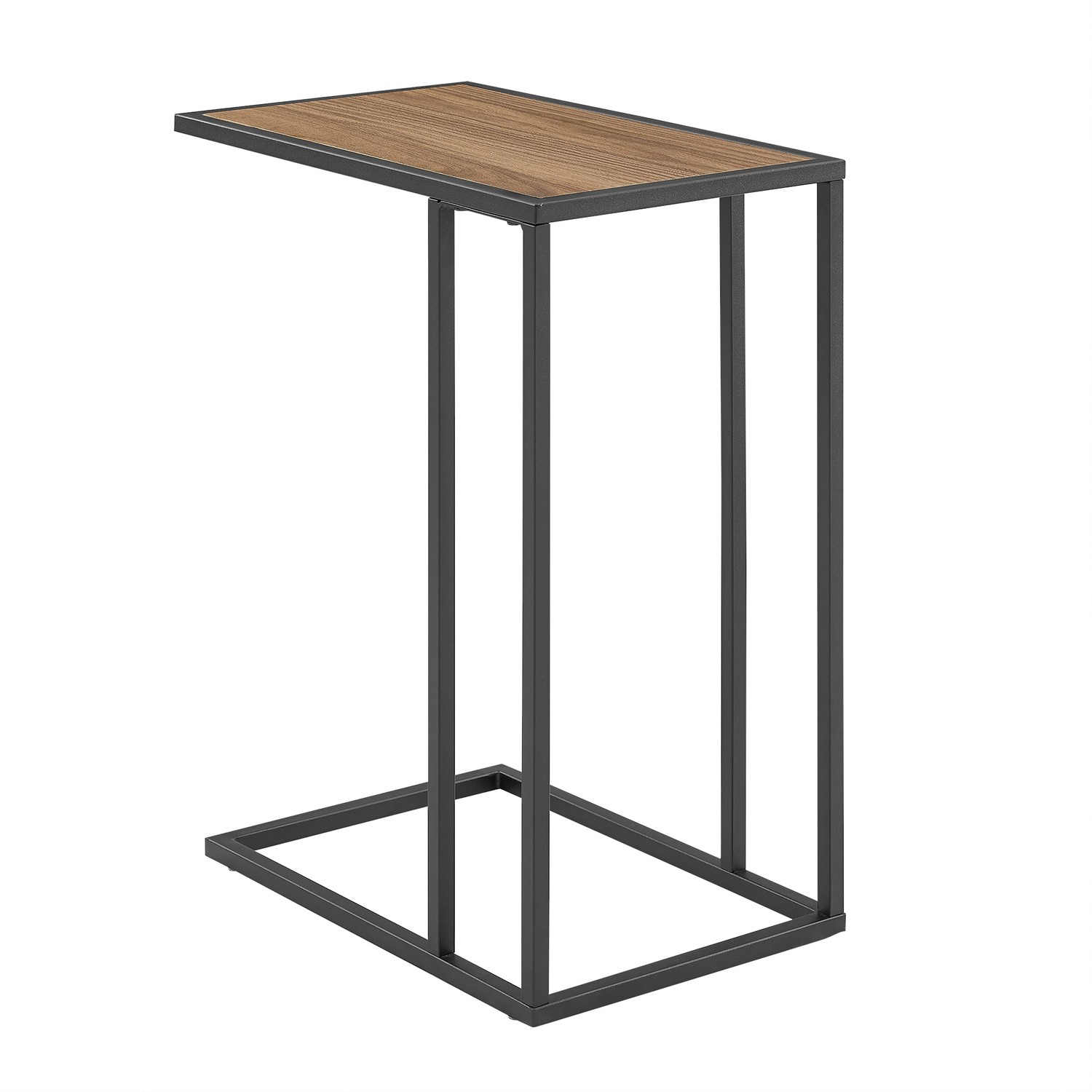 Picture of: Foster Wooden Side Table With Light Wood Top Metal Legs Furniture123
