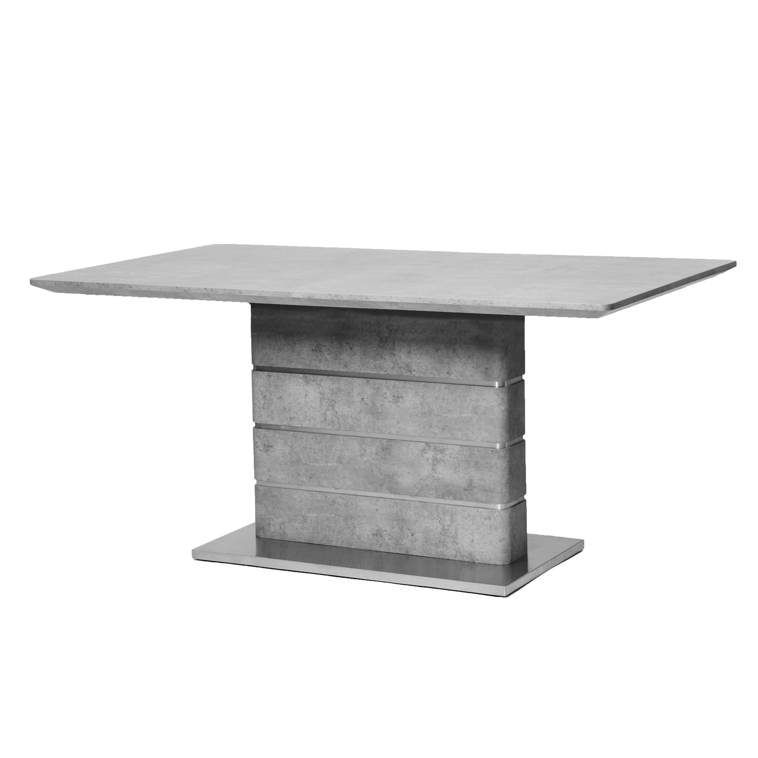 Dining Table in Grey Concrete Effect  Seats 6  Delta
