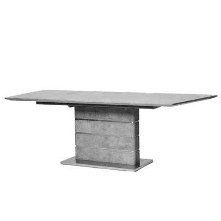 Extendable Dining Table in Grey Concrete Effect - Jet